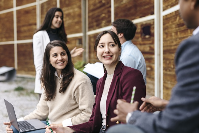 Studenten in Lokremise